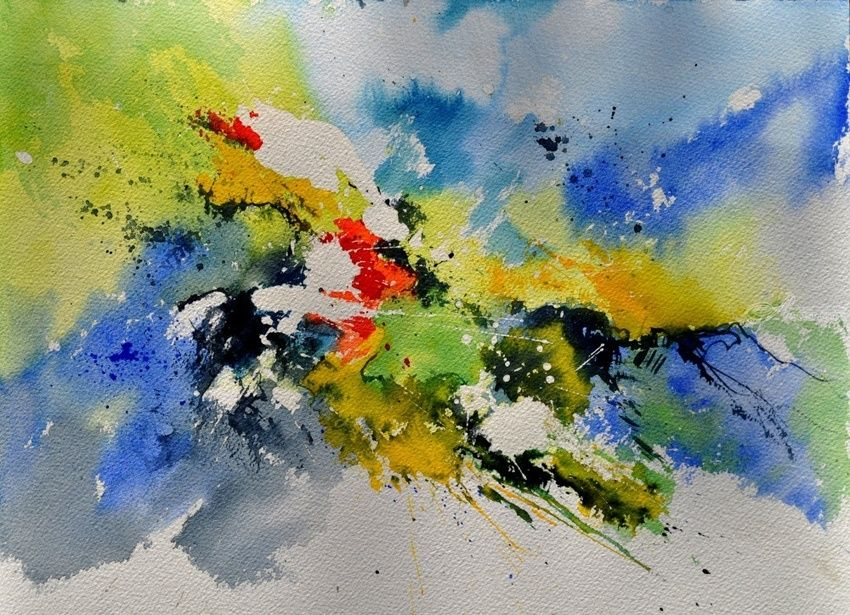 watercolor 410141, Paintings, Abstract, Decorative, Watercolor, By Pol Henry Ledent