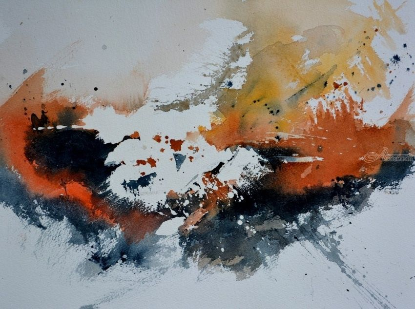 watercolor 471, Paintings, Abstract, Decorative, Watercolor, By Pol Henry Ledent