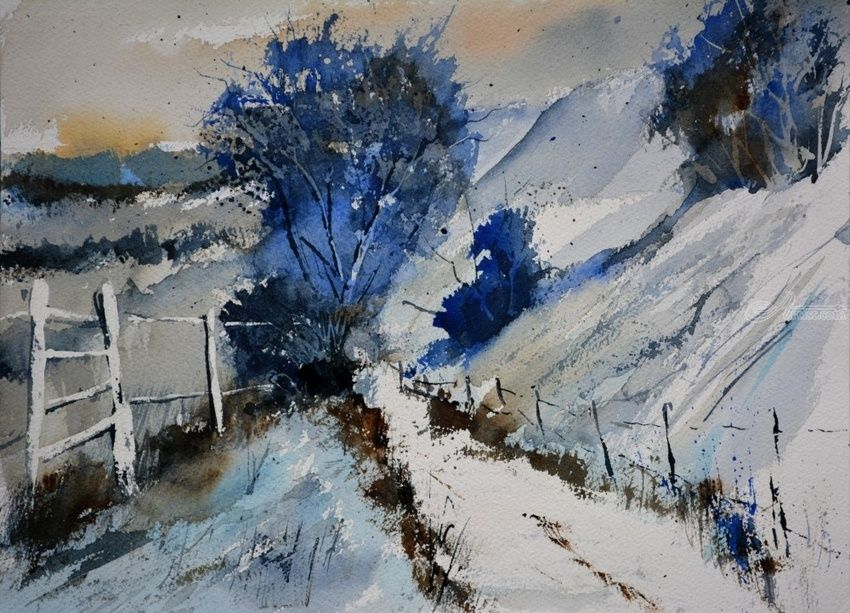 watercolor 512150, Paintings, Impressionism, Landscape, Watercolor, By Pol Henry Ledent