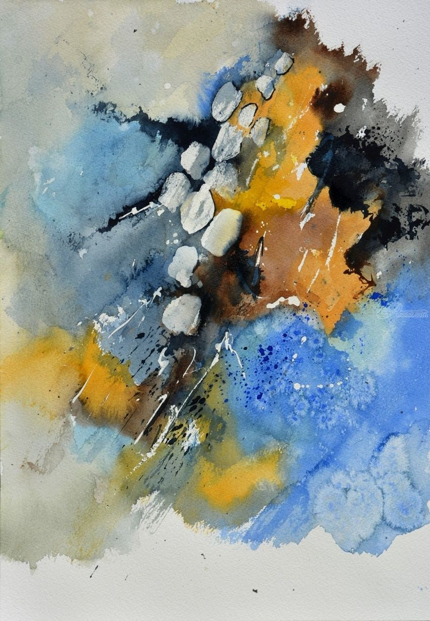 watercolor 516092, Paintings, Abstract, Decorative, Watercolor, By Pol Henry Ledent