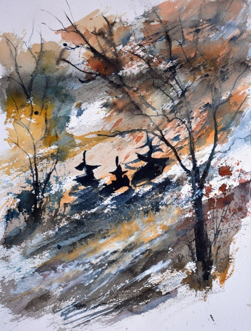 watercolor 612081, Paintings, Impressionism, Landscape, Watercolor, By Pol Henry Ledent
