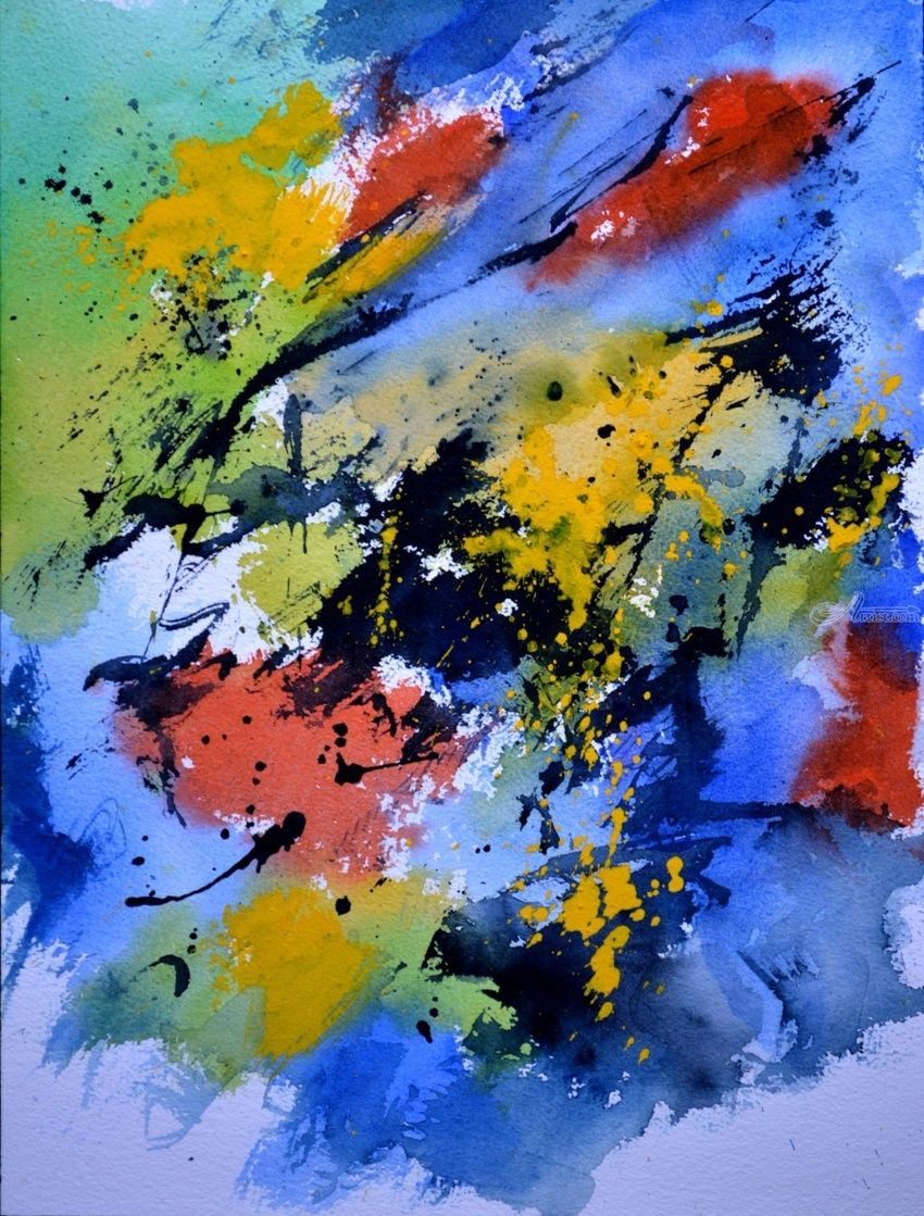watercolor 612090, Paintings, Abstract, Decorative, Watercolor, By Pol Henry Ledent