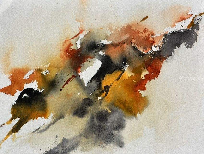 watercolor 618072, Paintings, Abstract, Decorative, Canvas, By Pol Henry Ledent