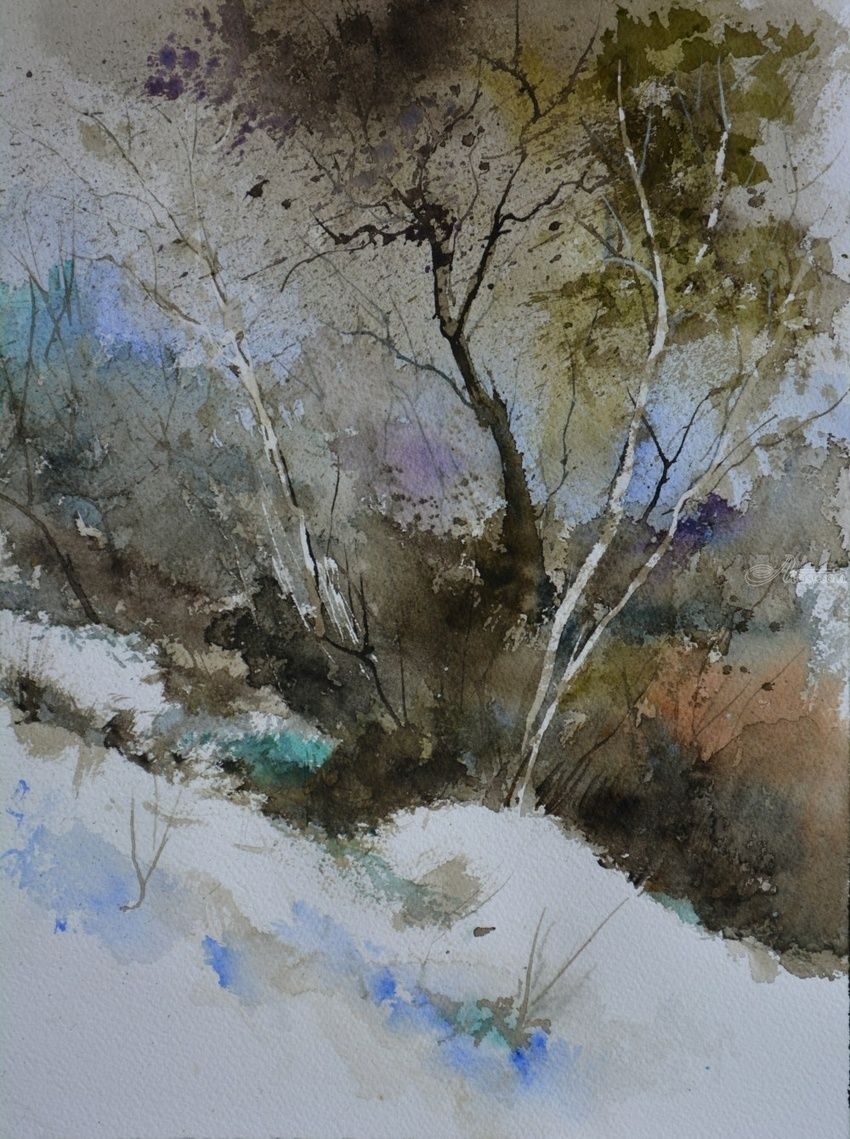 watercolor 711003, Paintings, Impressionism, Landscape, Watercolor, By Pol Henry Ledent
