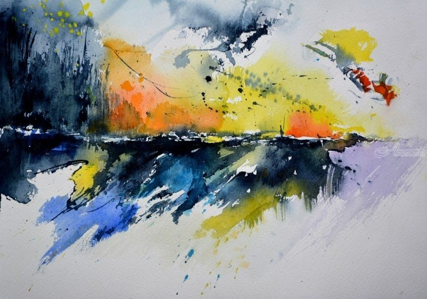 watercolor 771, Paintings, Abstract, Decorative, Watercolor, By Pol Henry Ledent