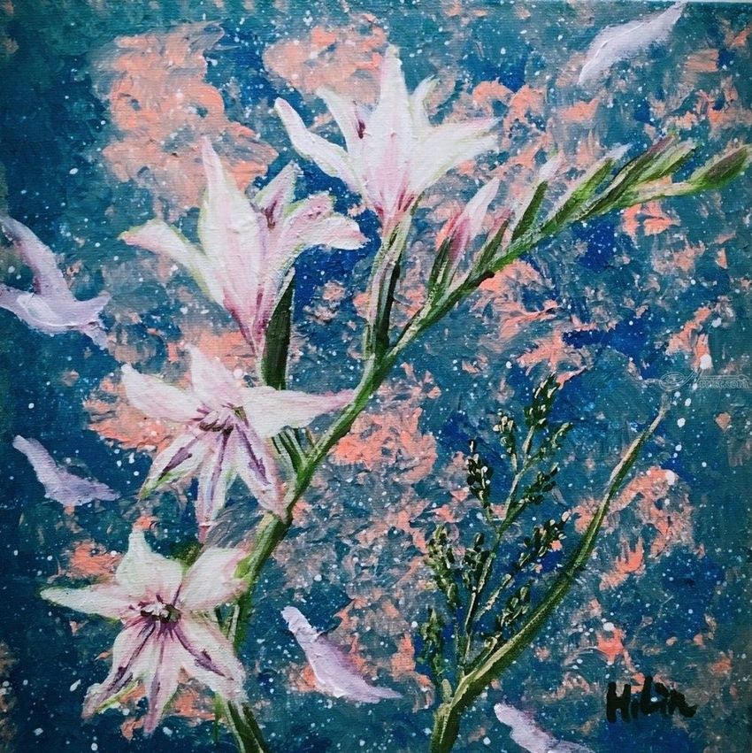 Wind brought you to me spring wild flowers paintings by hsin lin wind brought you to me spring wild flowers paintings abstractfine art mightylinksfo
