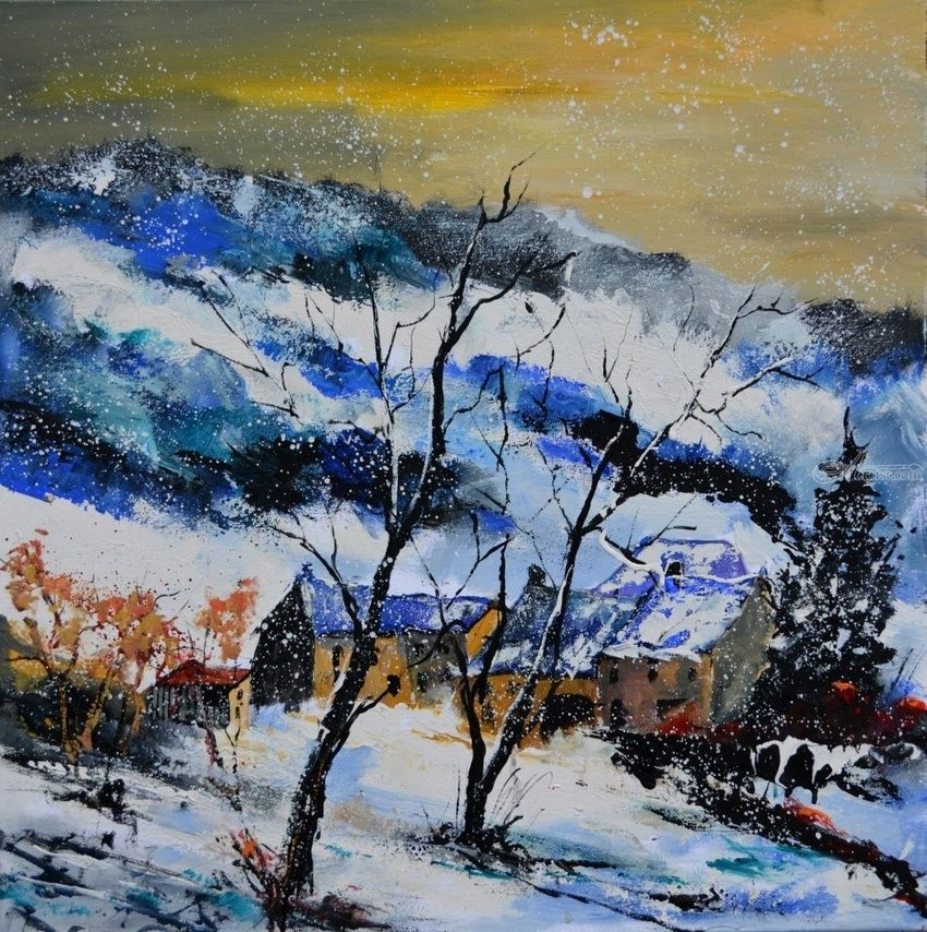 winter 7751, Paintings, Impressionism, Nature, Canvas, By Pol Henry Ledent