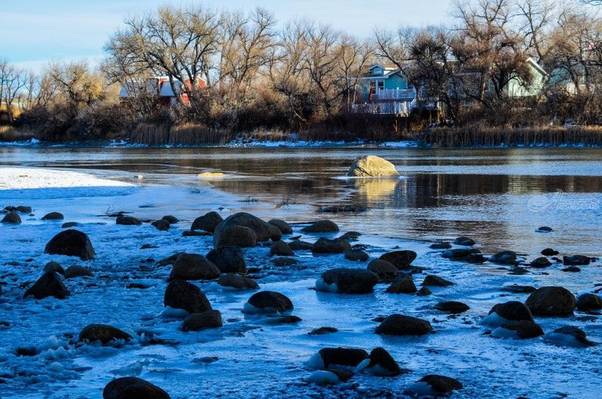 Wyoming Winter River, Photography, Fine Art, Nature, Photography: Photographic Print, By Jim Stewart