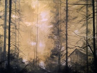 """A Most Ghostly Light"", Paintings, Impressionism, Landscape, Watercolor, By Stephen Keller"