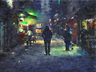 Allen-Park-Greeley-Colorado, Paintings, Impressionism, Window on the World, Painting, By Angelo
