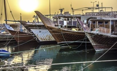 """Dhow Sunrise"" Limited Edition, Photography, Fine Art, Landscape, Acrylic,Photography: Premium Print, By Chris Kay"