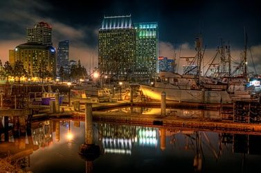 """Downtown at Night"" Limited<br>Edition, Photography, Fine Art, Landscape, Acrylic,Photography: Premium Print, By Chris Kay"