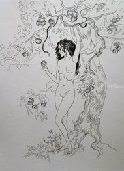 *Eve*, Graphic, Fine Art, Fantasy, Pencil, By Victoria Trok