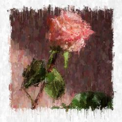 first valentine, Illustration,Paintings, Impressionism, Floral, Mixed,Painting, By Angelo