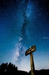 """Galaxy Over Big Laguna<br>Meadows"" #001, Photography, Fine Art, Landscape, Acrylic,Photography: Premium Print, By Chris Kay"