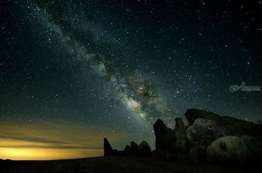 """Galaxy Over Eagle Rock"" #001, Photography, Fine Art, Landscape, Acrylic,Photography: Premium Print, By Chris Kay"