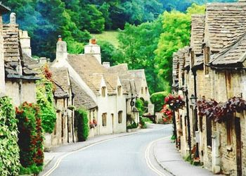 Prettiest Villages In<br>Cotswolds, Paintings, Fine Art, Window on the World, Watercolor, By Angelo
