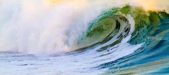 """Rolling Emerald"" Limited<br>Edition, Photography, Fine Art, Seascape, Acrylic,Digital,Photography: Premium Print, By Chris Kay"