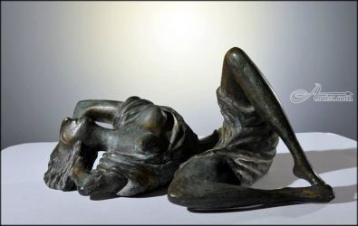 .SUMMER, Sculpture, Abstract, Nudes, Bronze, By ZAKIR AHMEDOV