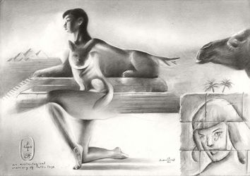 The reference picture I used<br>was s, Drawings / Sketch, Fine Art,Realism,Surrealism, Anatomy,Animals,Composition,Fantasy,Inspirational,Nudes,People, Pencil, By Corne Akkers