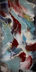 'Veins of Silver', Paintings, Abstract, Decorative, Epoxy, By Kim Switzer