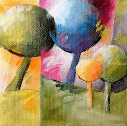 005 arbres, Paintings, Abstract, Architecture,Figurative,Floral, Canvas,Oil, By Beatrice BEDEUR