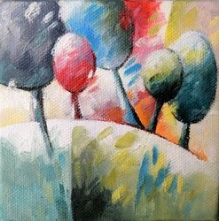006 arbres, Paintings, Abstract,Fauvism,Fine Art, Floral,Landscape,Nature, Canvas,Oil, By Beatrice BEDEUR