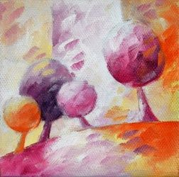 011 arbres, Paintings, Abstract, Floral,Landscape,Nature, Canvas,Oil, By Beatrice BEDEUR