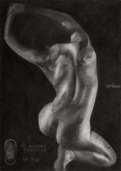 11 bestial qualities –<br>09-02-19, Drawings / Sketch, Fine Art,Impressionism,Realism,Surrealism, Anatomy,Animals,Composition,Erotic,Figurative,Inspirational,Nudes,People, Pencil, By Corne Akkers