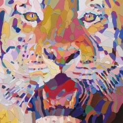 Mike the Tiger, Paintings, Fine Art, Portrait, Mixed, By Rodrigo Aguilera