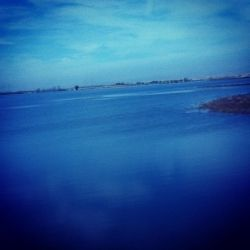 Blue Sky and Blue Water<br>Photography., Photography, Street Art, Nature, Photography: Photographic Print, By Catherine Bayani