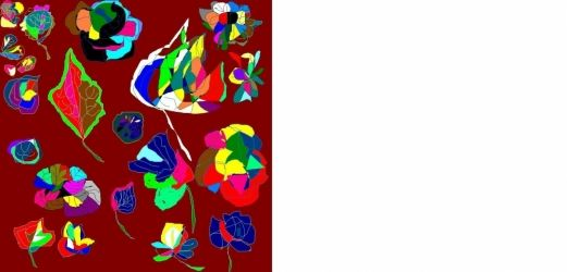 FLOWERS AND LEAVES, Digital Art / Computer Art, Abstract, Avant-Garde, Digital, By Catherine Bayani