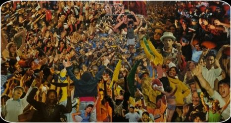 Hands In the Air, Collage, Symbolism, Humor,Multicultural / Ethnic, Mixed, By Holly Lund