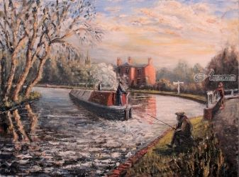 379. Kings Norton Junction, Paintings, Fine Art, Landscape, Oil, By TED HISCOCK
