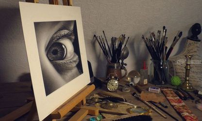 3D DRAWING of an eye<br>/realistic portraiture by<br>Stefan Pabst, Drawings / Sketch,Paintings, Dadaism,Existentialism,Expressionism,Fine Art,Photorealism,Realism, 3-D,Anatomy,Figurative,People,Portrait, Charcoal,Oil,Painting,Pastel,Pencil, By Stefan Pabst