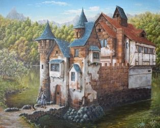 Castle, sweet castle. Nikolay<br>Velikiy 2017, Paintings, Realism, Architecture,Fantasy,Landscape, Canvas,Oil, By Nikolay Velikiy