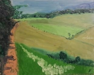 East Sand Valley, Paintings, Impressionism, Landscape, Oil, By MD Meiser