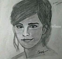 EmmaWatson, Drawings / Sketch, Realism, Portrait, Pencil, By Naveen Kumar