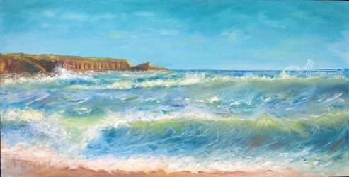 Forever love, Paintings, Fine Art,Impressionism, Landscape,Nature,Seascape, Oil, By Angela Suto