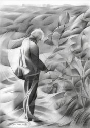 Henk Akkers - 15-02-17 (sold), Drawings / Sketch, Abstract,Cubism,Fine Art,Realism, Composition,Landscape,Nature,People,Portrait, Pencil, By Corne Akkers