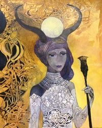 Isis, Paintings, Fine Art, Fantasy, Canvas, By olga zelinska