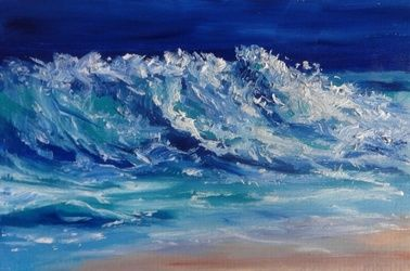 Moonlit, Paintings, Realism, Seascape, Oil, By fred wilson