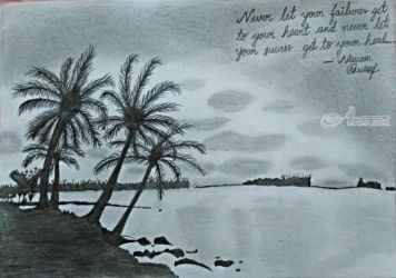 NatureScenery, Drawings / Sketch, Realism, Landscape, Pencil, By Naveen Kumar