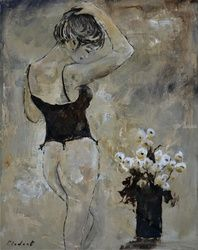Nude 456121, Paintings, Impressionism, Decorative, Canvas, By Pol Ledent