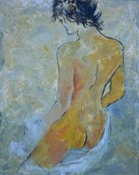 Nude 457120, Paintings, Expressionism, Decorative, Canvas, By Pol Ledent