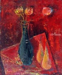 PEARS, Paintings, Abstract, Floral, Canvas, By ZAKIR AHMEDOV