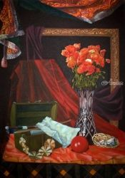 Perfection or Vanity, Paintings, Fine Art,Photorealism,Realism,Romanticism, Still Life, Canvas,Oil,Painting, By Julian Arsenie