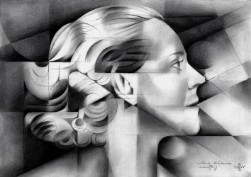 Sans titre - 05-05-17, Drawings / Sketch, Abstract,Cubism, Composition,People,Portrait, Pencil, By Corne Akkers