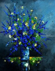 Still life 6785, Paintings, Expressionism, Botanical, Canvas, By Pol Ledent