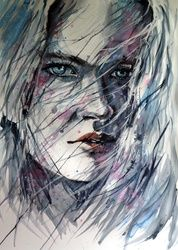 Summer winds, Paintings, Impressionism, People, Watercolor, By Kovacs Anna Brigitta